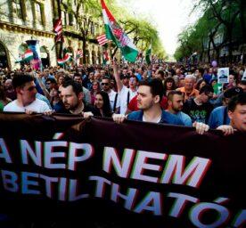 Anti-Orban demonstration in Budapest.