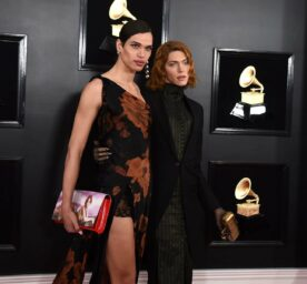 Tzef Montana and SOPHIE arrive at the 61st annual Grammy Awards