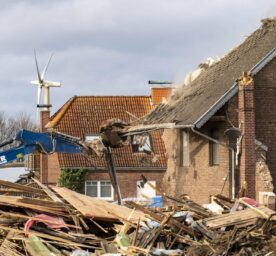 Demolition of the village of Lützerath near Erkelenz by the energy company RWE to make way for the open-cast lignite mine Garzweiler II