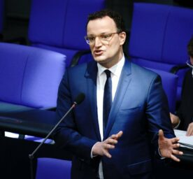 Jens Spahn (CDU), Federal Minister of Health, attends the session of the Bundestag questioning the Federal Government.