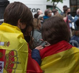 Attendees at the rally of the far-right party VOX in Madrid