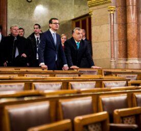 Viktor Orban and Mateusz Morawiecki meet.