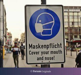 Lockdown im Februar 2021. Es gilt weiterhin eine Maskenpflicht.