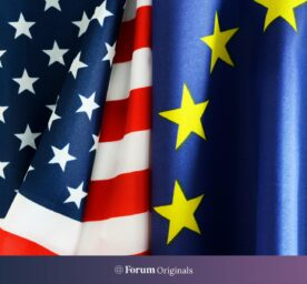 US and European Union flags