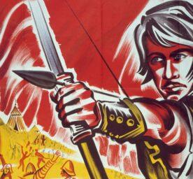 "Poster with Errol Flynn for the film ""Robin Hood"""