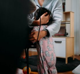 Baby child seeks attention