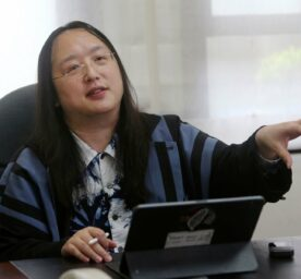 Taiwan's Digital Minister Audrey Tang in their office